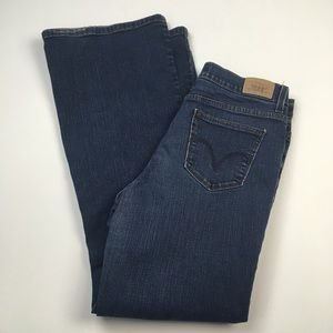 Levi's 548 Flare Dark High Rise Jeans Denim Sz 12